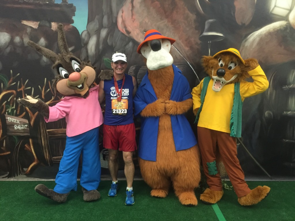 The Br'er characters were the 10K meet and greet characters.